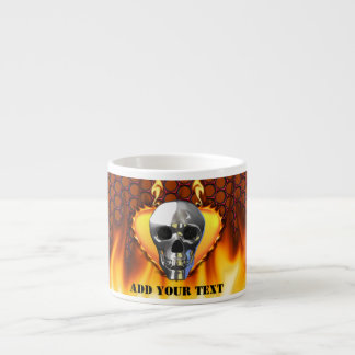 Chrome Skull and candy apple red honeycomb Espresso Mug
