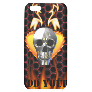 Chrome Skull and candy apple red honeycomb iPhone 5C Cover