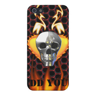 Chrome Skull and candy apple red honeycomb iPhone 5 Cover