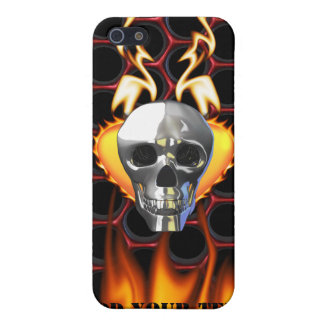 Chrome Skull and candy apple red honeycomb Cases For iPhone 5