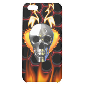 Chrome Skull and candy apple red honeycomb iPhone 5C Cases