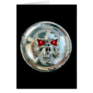 CHROME SKULL CARD