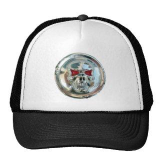 CHROME SKULL MESH HATS