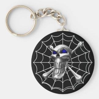 Chrome Skull Key Chain