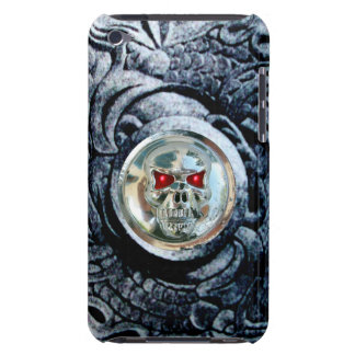CHROME SKULL WITH FANTASY GRIFFINS iPod TOUCH Case-Mate CASE