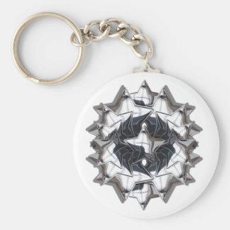 Chrome Star Keychain