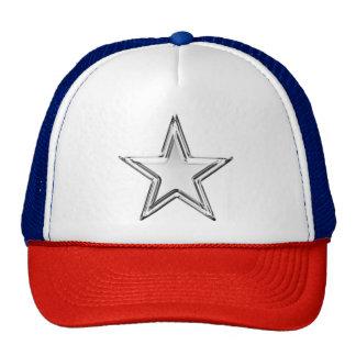 Chrome Star Silver Trucker's Hat