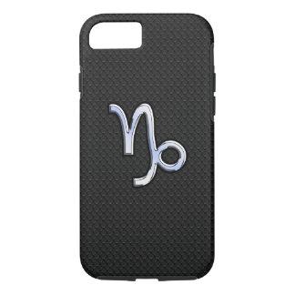 Chrome Style Capricorn Zodiac Sign on Snake style iPhone 7 Case