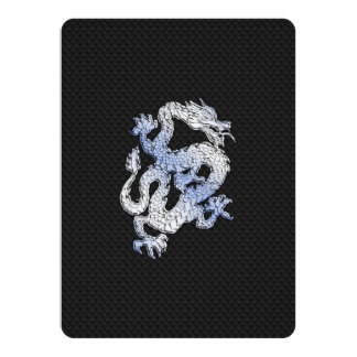 Chrome Style Dragon on Black Snake Skin Print Announcements