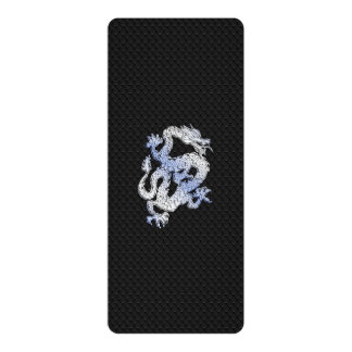 Chrome Style Dragon on Black Snake Skin Print Invitation