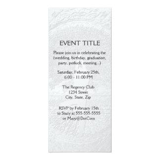 Chrome Tree of Life Yoga 10 Cm X 24 Cm Invitation Card