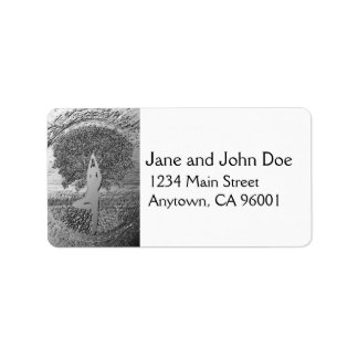 Chrome Tree of Life Yoga Address Label
