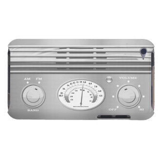 Chrome Vintage Radio iPod Case-Mate Cases