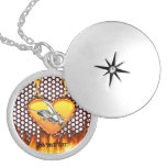 Chrome wasp (yellow jacket) design 1 with fire