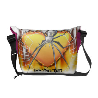 Chromed Black Widow Design 2 Courier Bags