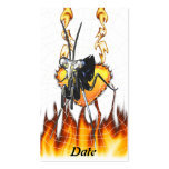 Chromed praying mantis design 2 with fire and web. pack of standard business cards