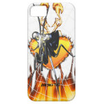 Chromed praying mantis design 2 with fire and web. iPhone 5 covers