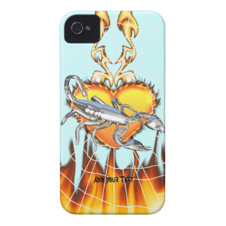 Chromed scorpion design 1 with fire and we iPhone 4 case