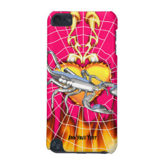 Chromed scorpion design 1 with fire and we iPod touch (5th generation) case