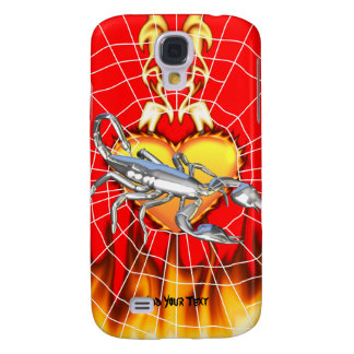 Chromed scorpion design 1 with fire and we samsung galaxy s4 case
