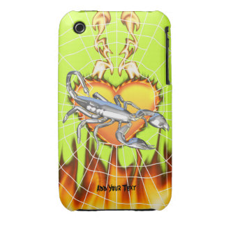 Chromed scorpion design 1 with fire and we iPhone 3 cover