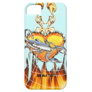 Chromed scorpion design 1 with fire and we iPhone 5 cover