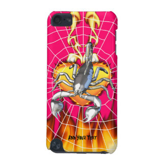 Chromed scorpion design 2 with fire and web iPod touch (5th generation) covers