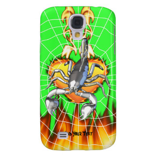 Chromed scorpion design 2 with fire and web samsung galaxy s4 covers
