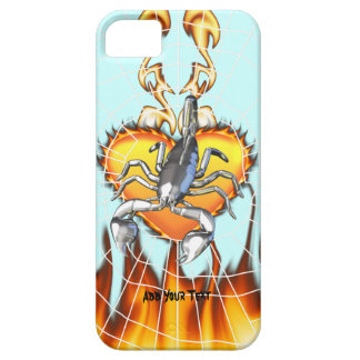 Chromed scorpion design 2 with fire and web. iPhone 5 case