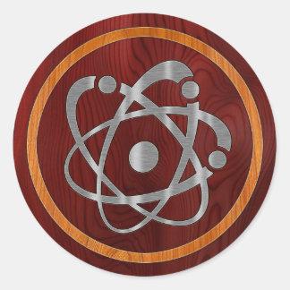 Chromium Atom Round Sticker
