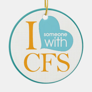 Chronic Fatigue Awareness Double-Sided Ceramic Round Christmas Ornament
