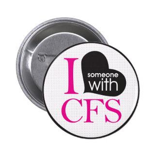 Chronic Fatigue Awareness (pink and black) 6 Cm Round Badge