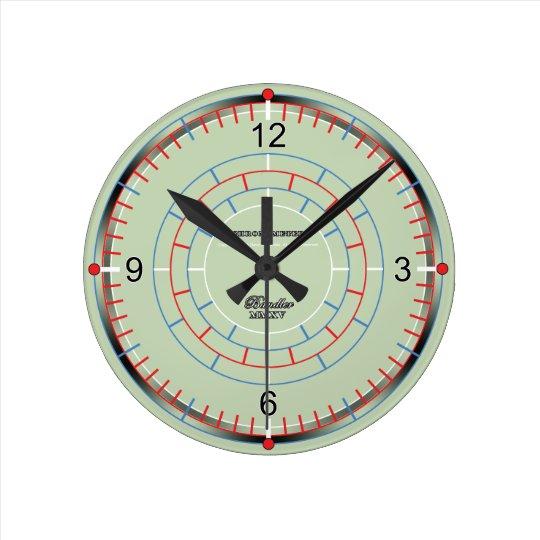Chronometer II Small Round Clock