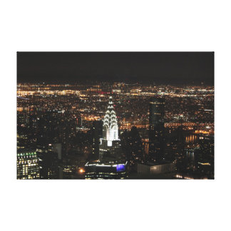 Chrylser Building at Nigtht Canvas Print