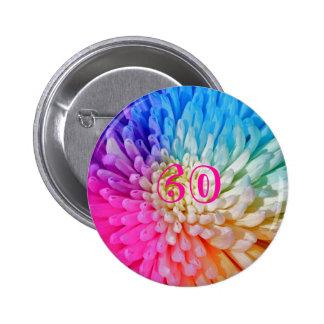 Chrysanthemum Artificial Colour Button Badge 60