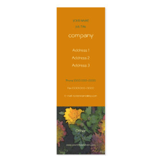 Chrysanthemum Autumn Profile Card Pack Of Skinny Business Cards