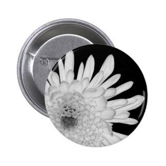 Chrysanthemum 6 Cm Round Badge