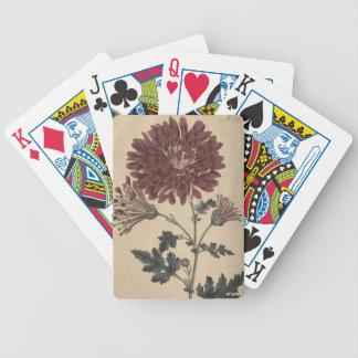 Chrysanthemum Bicycle Playing Cards