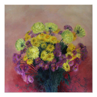Chrysanthemum bouquet - poster