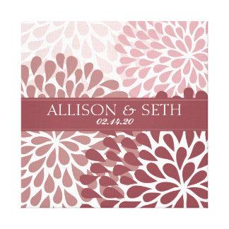 Chrysanthemum (Brick Red) Canvas Wedding Gift Gallery Wrap Canvas