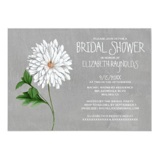 Chrysanthemum Bridal Shower Invitations