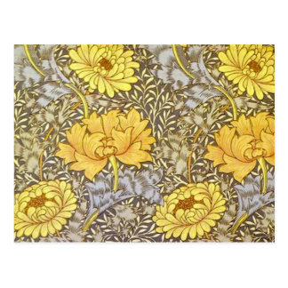 chrysanthemum by William Morris Post Card