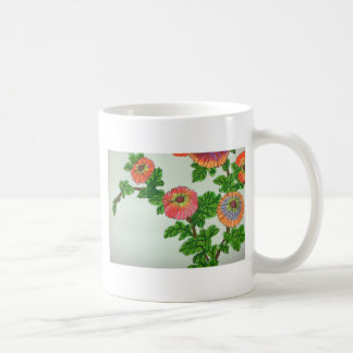 Chrysanthemum carinatum coffee mug
