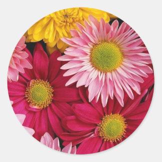 Chrysanthemum Classic Round Sticker
