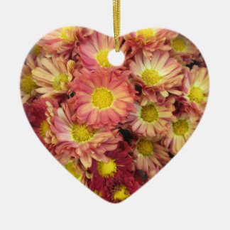 Chrysanthemum Cluster Garden Yellow Pink Christmas Ornament