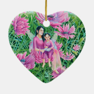 Chrysanthemum Fairy Mum and Child Christmas Ornament