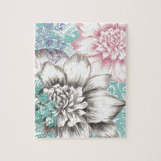 chrysanthemum floral design jigsaw puzzle