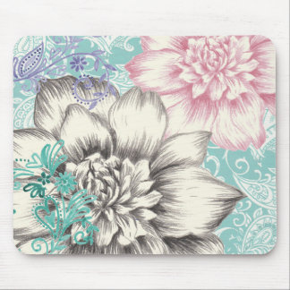 chrysanthemum floral design mouse mat
