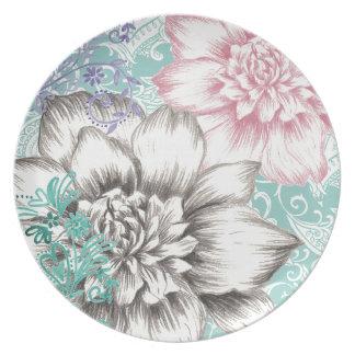 chrysanthemum floral design plate