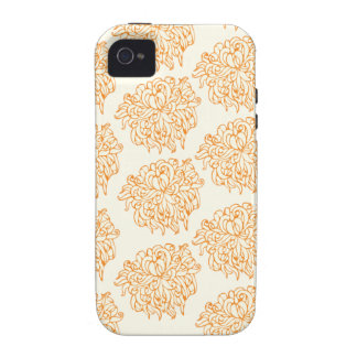 Chrysanthemum Floral Pattern iPhone 4 Covers